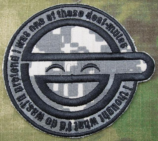 ACU GHOST IN SHELL STAND ALONE COMPLEX The Laughing Man Embroidery Patch B2789