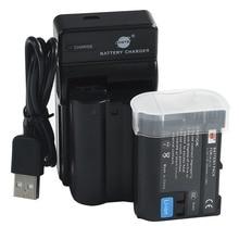 DSTE 2PCS EN-EL15 en el15 Camera Battery with USB Charger for Nikon D7100 D7100 D800 D800E D600 D610 D810 D7200 V1 D7500 D850