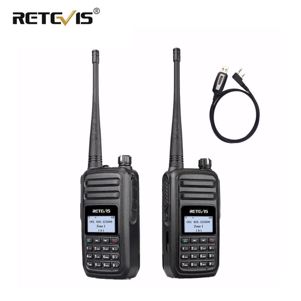 2 pièces rechape RT80 talkie-walkie DMR Radio numérique UHF VOX FM jambon Radio émetteur-récepteur radioamateur Comunicador marche parler + 1X câble