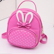 2827979a97 1 piece Mini Small Backpack For Teenage Girls Bunny Cute schoolbag Women  Leather Polka Dot Bow