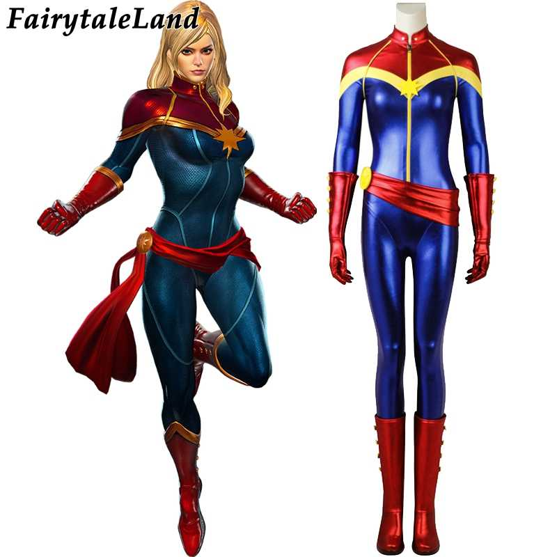 ad0006848b3 Ms. Marvel Cosplay Costume Halloween costumes Superhero Avengers Captain  Marvel Carol Danvers Costume Captain Marvel