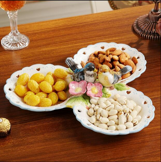 Modern decorative plate for Fruit Creative Ceramic Dessert Plate Decorations Candy Dried Plate Home Decors Wedding Gifts-in Bowls u0026 Plates from Home ... & Modern decorative plate for Fruit Creative Ceramic Dessert Plate ...