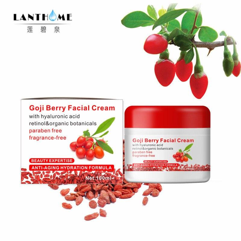2017 lanthome haute qualité Goji berry du visage hydratant et anti-âge crème chinois soins de la peau produit enlever rides profondes ligne