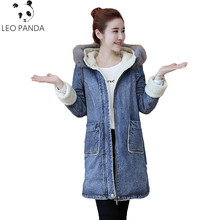 Kadın kuzu saç Benim ceket kış kürk yaka kapşonlu orta uzun kalın sıcak Parka ceket kadın rahat kot ceket dış giyim WHF07