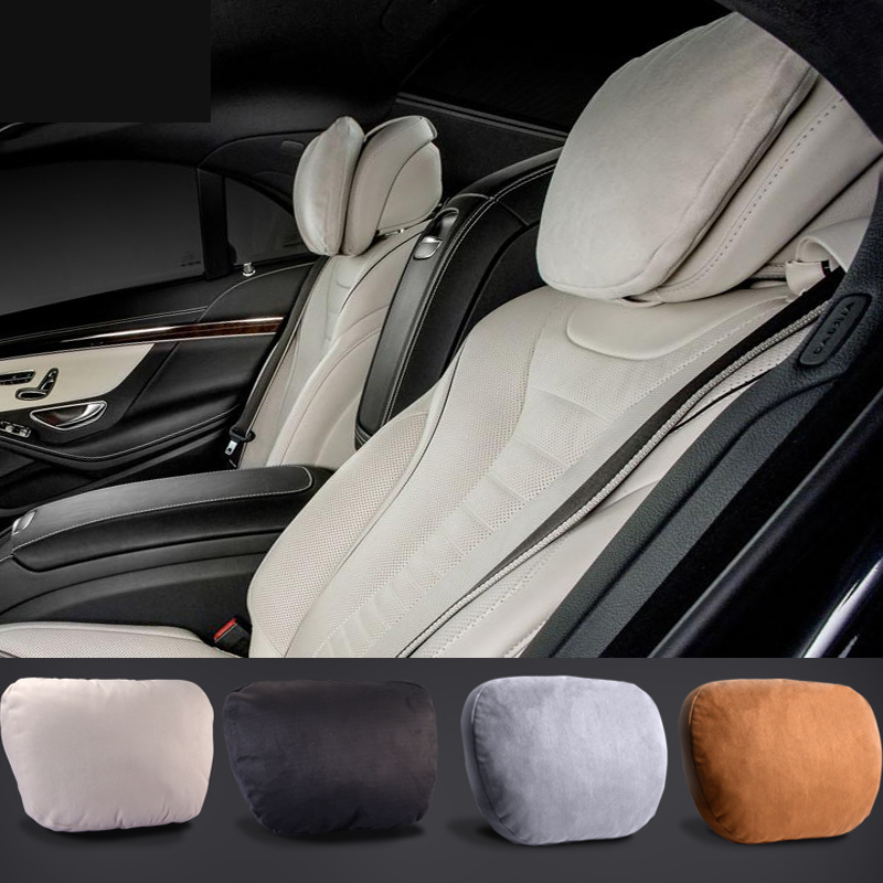 Maybach Design S Class Ultra Soft Natrual Car Headrest Neck Seat Cushion Headrest Covers For Mercedes-Benz BMW Audi Toyota Honda
