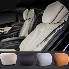 Maybach Design S Class Ultra Soft Natrual Car Headrest Neck Seat Cushion Headrest Covers For Mercedes-Benz BMW Audi Toyota Honda(China)
