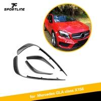 For Mercedes Benz GLA Class X156 GLA200 GLA250 Sport Utility 2014 2017 Front Bumper Fog Lamp Trim Air Vent Carbon Fiber / ABS