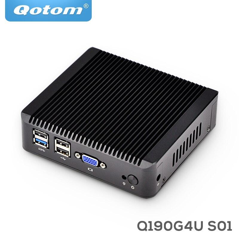 Qotom 4 LAN Barebone mini pc WIFI Q190G4 celeron J1900 Quad Core 2*usb firewall Multi-function home router PfsenseQotom 4 LAN Barebone mini pc WIFI Q190G4 celeron J1900 Quad Core 2*usb firewall Multi-function home router Pfsense