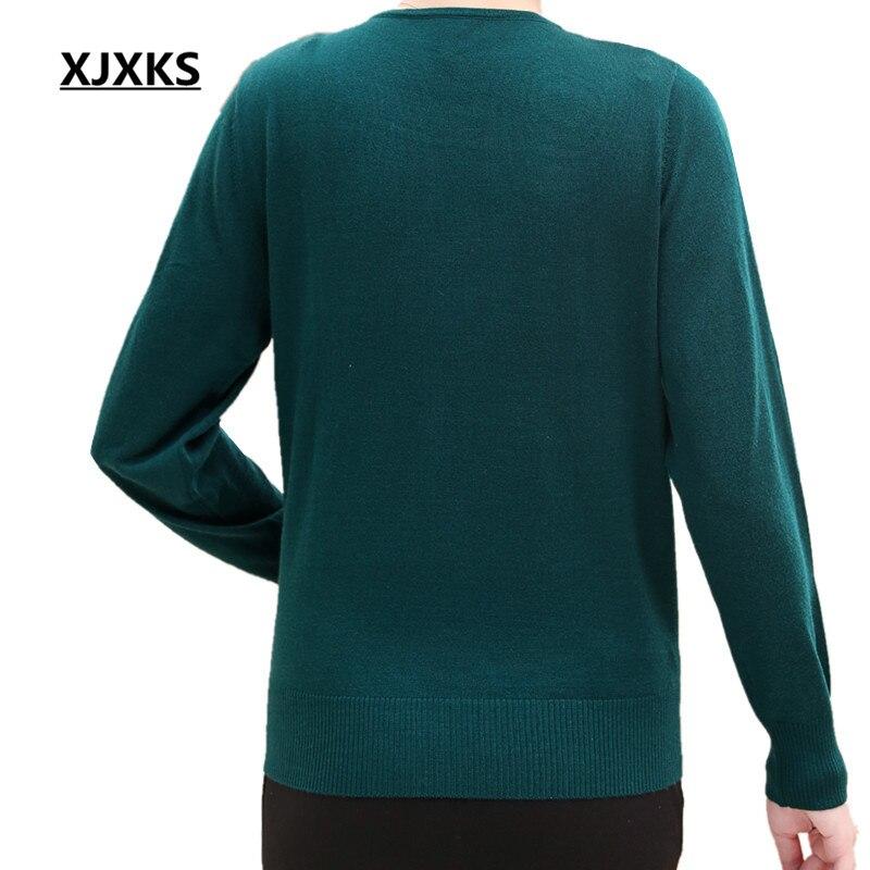 M Confortable Taille Exquise 5xl rouge Plus Xjxks Chandails La Tricoté Appliques Casual Chandail Noir Pulls Femmes Exécution vert Et pourpre vwqx8zw