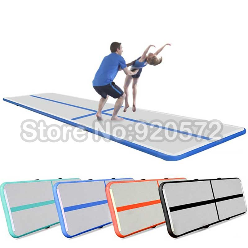Free shipping Free Pump 4*1*0.1m Air Track Hot Sale Inflatable Tumble Track Trampoline Air Track Gymnastics Inflatable Air Mat