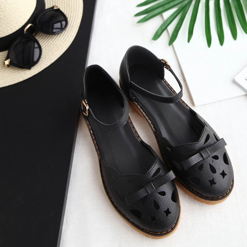 HEE GRAND New Spring Fashion Solid Women Shoes for Dress with Round Toe Causal Buckle Strap Butterfly-knot Rubber Shoes XWD7383