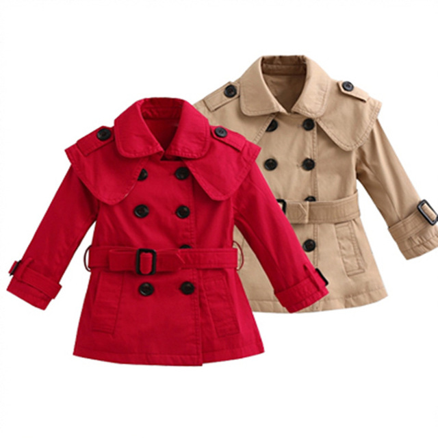 VTREE 2016 spring Wind Coat Cardigan Jackets for Girls boys Brand boys Girls Spring Trend Style Kids Trench Coat children coat