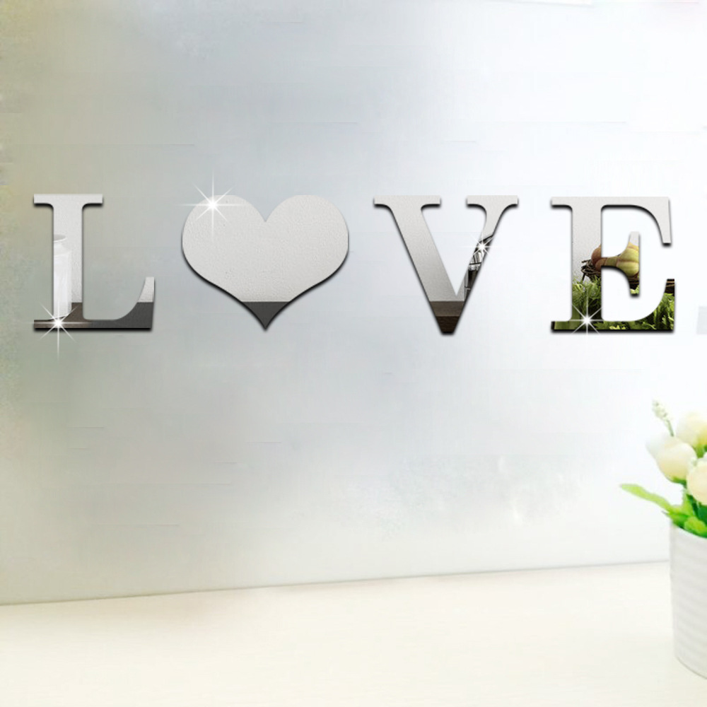 26 letters plus love home decor diy 3d mirror wall sticker acrylic 26 letters plus love home decor diy 3d mirror wall sticker acrylic mirrored decorative sticker decoration wall art in wall stickers from home garden on amipublicfo Images