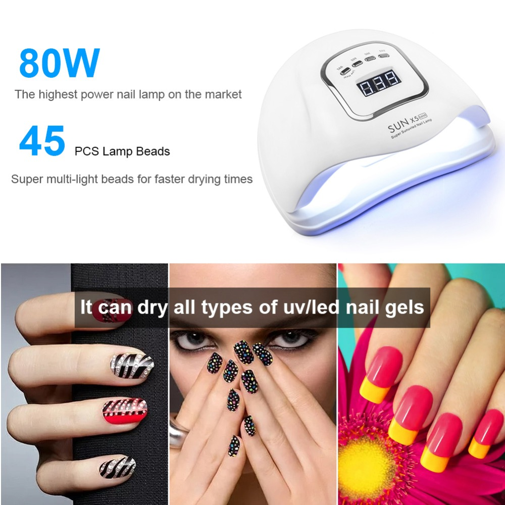 Image 5 - 120W/80W SUNX5 Max UV LED Lamp For Nails Dryer Ice Lamp For Manicure Gel Nail Lamp Drying Lamp For Gel Varnish-in Nail Dryers from Beauty & Health