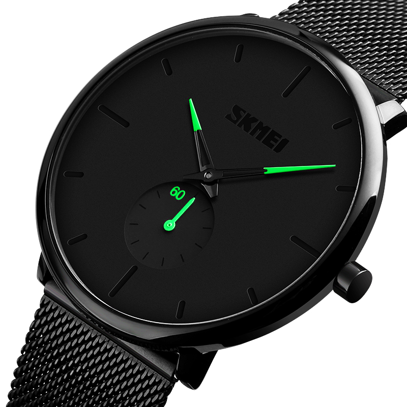 SKMEI Men Quartz Watches Waterproof Women Wristwatches For Man Ladies Wrist Watches Relogio Masculino Relojes Para Hombre 9185
