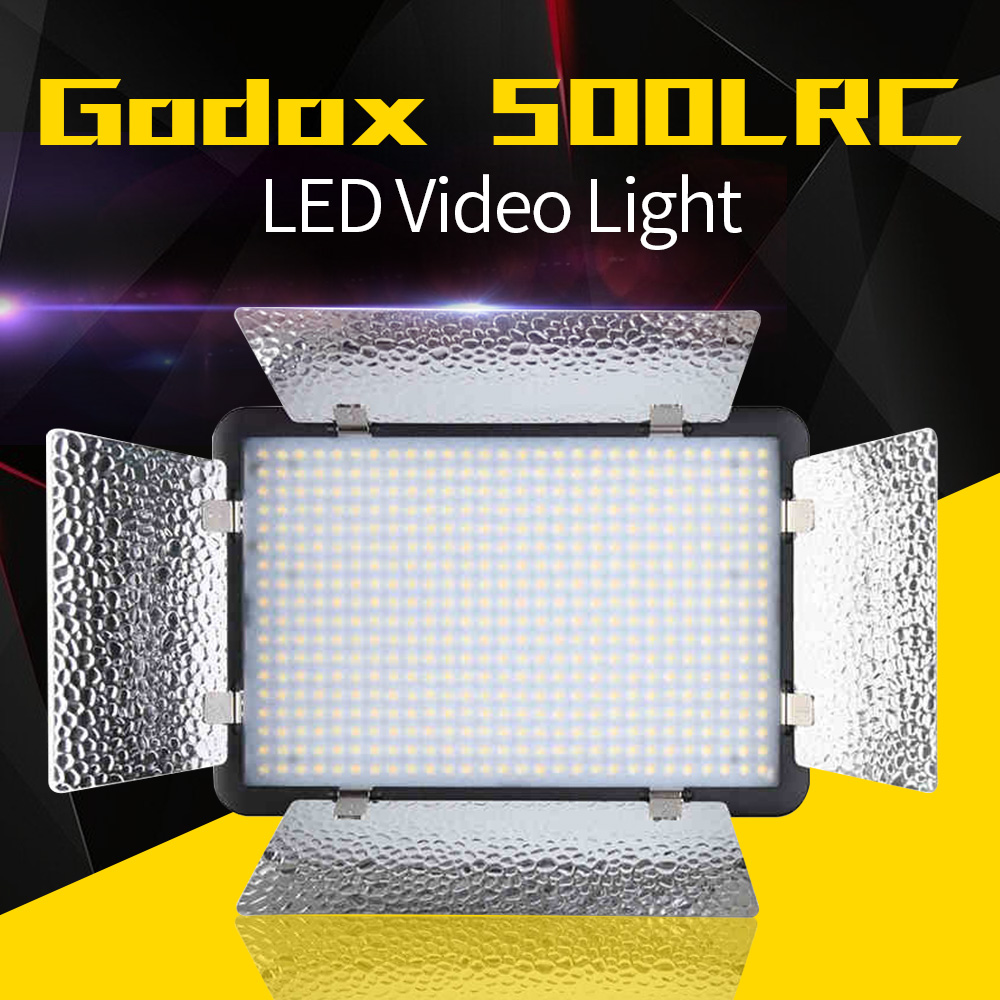 Godox 500 LED Lamp Panel LED500LRC 3300-5600K Bi-color Video Light Lighting+ Power cable + Wireless Remote