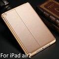 Новый Высокое качество для iPad air2 из натуральной кожи чехол для iPad 6 смарт-чехол сна защитный чехол для iPad A1566 A1567 чехол + фильм