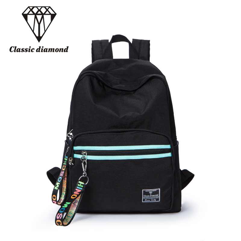 2018 Casual Nylon Small Backpacks Women High Quality Waterproof Backpack Female Solid Color Schoolbag For Daypack Black Rucksack melodycollection candy color pu leather mini backpack for women girls purse fashion schoolbag mini casual daypack dome backpacks