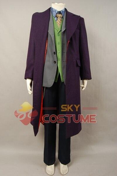 Batman The Dark Knight Joker Cosplay խրամատի բաճկոն + - Կարնավալային հագուստները - Լուսանկար 2