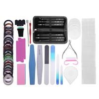 17 pz/set Multi Portatile FAI DA TE Pinzette Manicure Set Beauty Salon Nail Design Stickers Nail Art Strumenti Polacco Set Kit