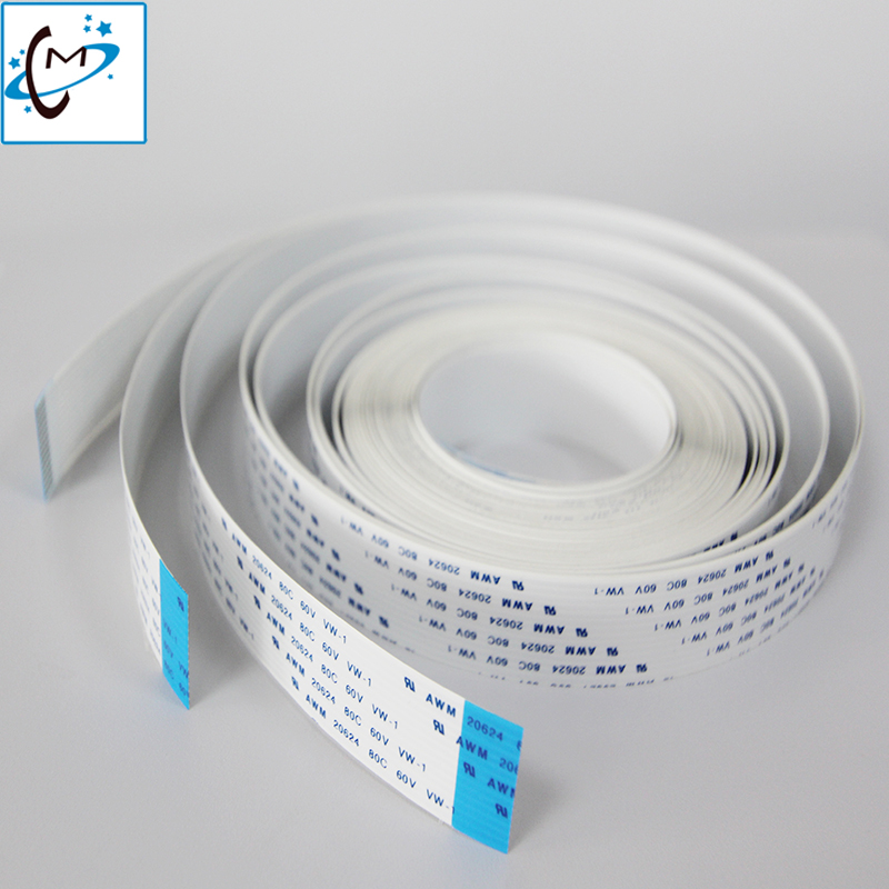 Free shipping Eco solvent printer 1set (5pcs ) Crystaljet 3000 4000 5000 FFC cable /Long data cable 5.5M ((14P/16P/18P-5500mmA) meldas dk 454 zip 14p 1pcs free shipping