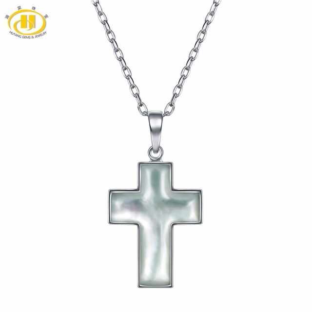 Hutang pearl jewelry natural mother of pearl cross pendant hutang pearl jewelry natural mother of pearl cross pendant necklace fine fashion jewelry for womens aloadofball Images