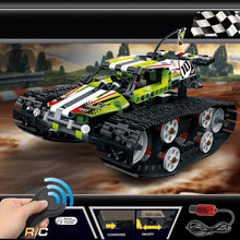 Technic Series The RC Track Remote-control Race Car Set Building Blocks Bricks Educational Toys Compatible with Legoings 42065(China)