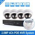 UNITOPTEK 4CH 2MP 1080 P Cámara Domo IP de 4 Canales NVR sistema de Apoyo POE NVR Kit Home Video Vigilancia de Vídeo En Tiempo Real grabación