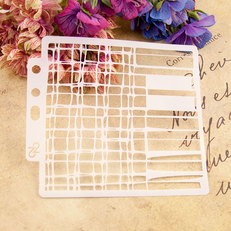 New Mesh Painting Sticker Stencils for Diy Scrapbooking Stamps Home Decor Paper Card Spray Template Decoration Album Crafts Art in Stamps from Home Garden