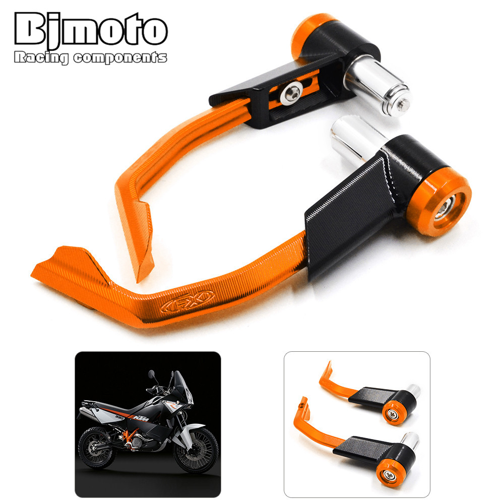 LG-007 For KTM 125 200 390 690 990 DUKE Orange Motorcycle CNC Aluminum Proguard Brake Clutch Levers Protect Guard 7/8 22mm cnc motorcycle billet rear brake pedal step tips pedal for ktm 690 smc supermotor enduro 690 duke 950 990 adv 125 200 390 duke
