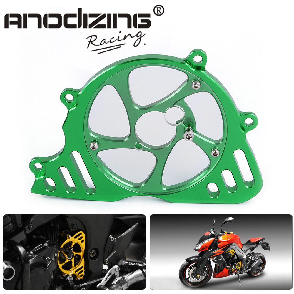 CNC Motorcycle Left Engine Front Accessories Sproket Chain Guard Protection Cover For Kawasaki Z1000 10-13  Z1000SX/NINJA1000 motorcycle accessories 650tr left front fender