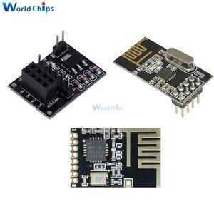 NRF24L01 SMD беспроводной Wifi адаптер приемопередатчика Модуль с антенной 2, 4 ГГц NRF24L01 обновленная версия розетка адаптер пластина плата