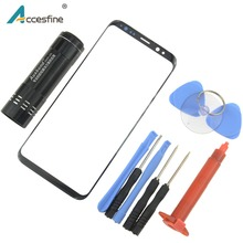 חדש לסמסונג גלקסי S8 S9 בתוספת הערה 8 9 קדמי חיצוני זכוכית עדשת לוח מגע כיסוי החלפת & תיקון כלים & UV דבק/אור