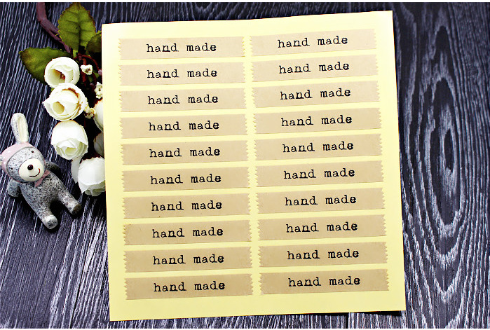Hand made Scrapbooking Kraft Paper Labels Envelopes Packaging Seals Sticker DIY For Cake Box Wrapping Baking Decor 20pcs/sheet