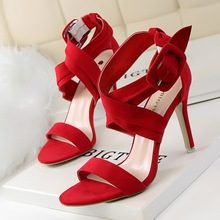 Peep Toe Zapatos de Tacones Altos Zapatos de Las Mujeres Bombea Los Zapatos de Verano Sandalias Atractivas Del Banquete de Boda de San Valentín de Las Señoras Calzado zapatos de Tacón Negro