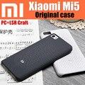 Original xiaomi oficial cinza preto pc + lsr ofício anti-knock back cover case for xiaomi mi5 telefone inteligente