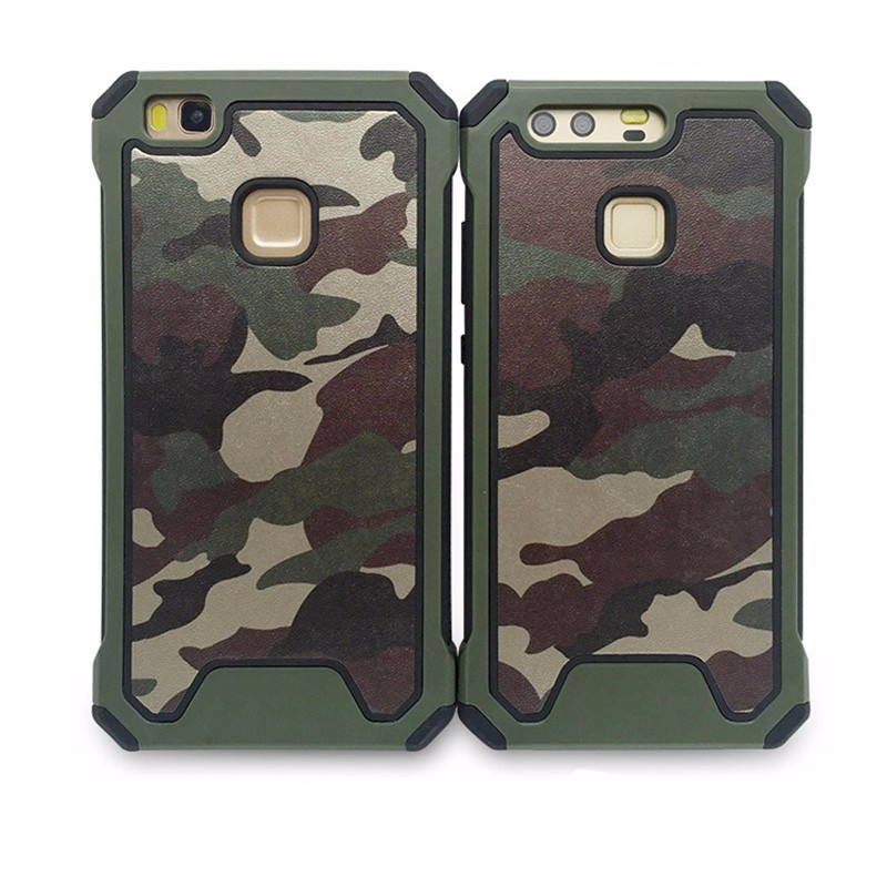 Camouflage Case For Huawei P8 Lite 2017 P9 Lite Plus P10 Camo cover For Huawei P8 P9 P10 phone bag Armor For P9 Plus capa in Fitted Cases from Cellphones Telecommunications
