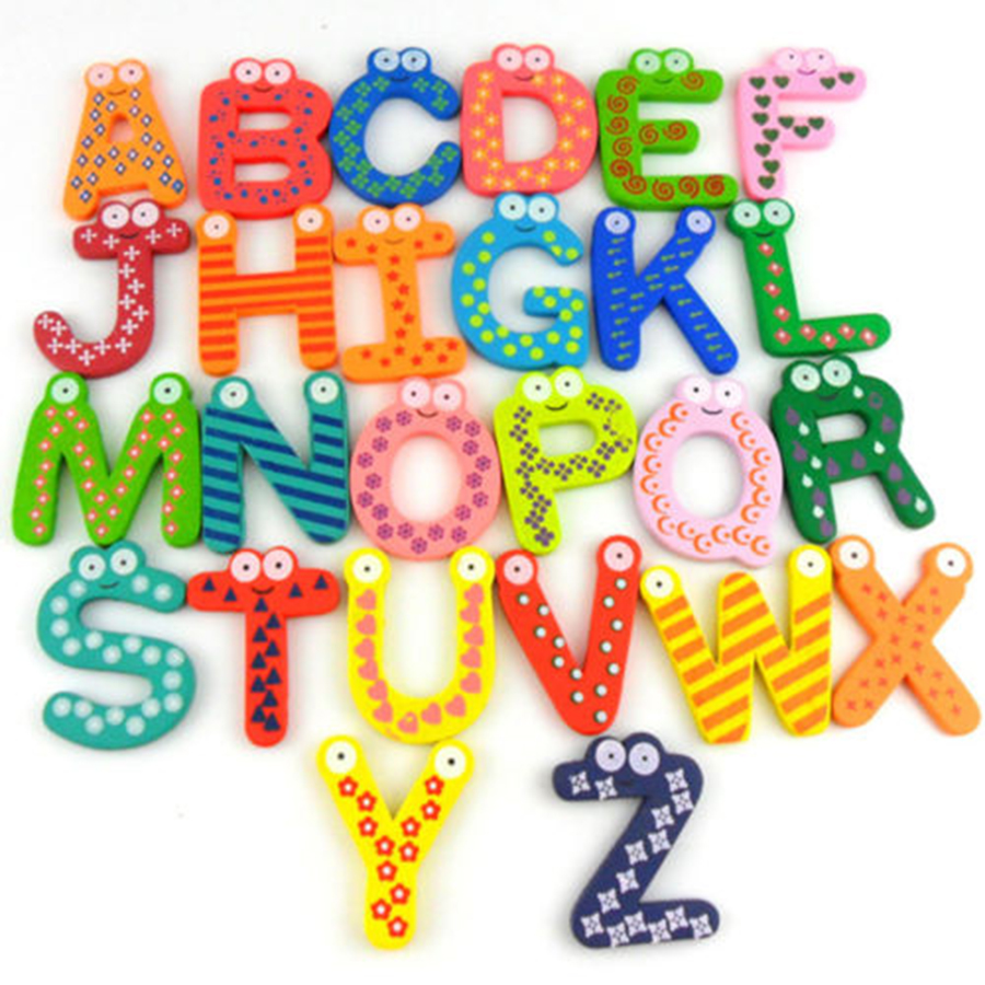 Wooden Number 0-9 A-Z Letter Alphabet  Magnet Educational Toy for Baby Kid  Learning Toys Gift Wooden Number 0-9 A-Z Letter Alphabet  Magnet Educational Toy for Baby Kid  Learning Toys Gift