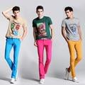 Muchos Color Jeans Hombres Nueva Llegada Del Diseñador Del Mens Jeans Elásticos cintura de Los Hombres Flacos Pantalones Vaqueros Largo Slim Fit Pantalones de Mezclilla Ocasional pantalones
