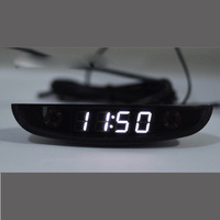 Led 자동차 자동차 전자 시계 watchesthermometer 전압계 빛나는 디지털 시계 화이트 듀얼 온도 역방향 디스플레이