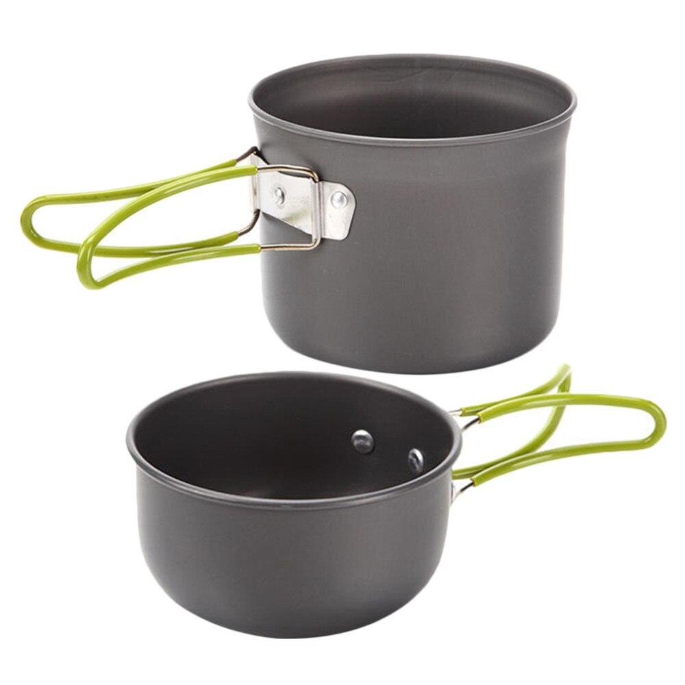 survival camping Edc tool Camping Hiking Picnic Cookware Cook Cooking Pot Bowl Set Aluminum Outdoor