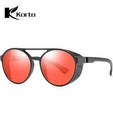 f7601f0b5 Óculos De sol para Homens Hippie Retro Óculos Redondos Virar Steampunk  Óculos De Sol Das Mulheres Do Vintage Da Moda 2019 Tendên.