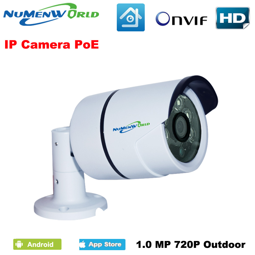 POE IP camera Waterproof 1280*720P HD ONVIF iCloud Webcam Mini Security IP Cam IR Night Vision Camera Outdoor Indoor что можно в дьюти фри в домодедово