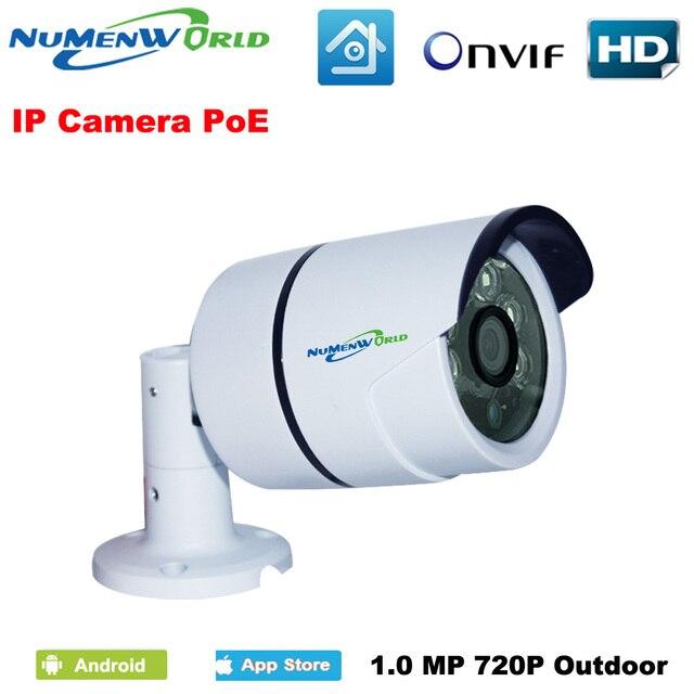 POE ip-камера Водонепроницаемый 1280*720 P HD Onvif iCloud веб-камера мини безопасности IP Cam ИК Ночное видение Камера открытый Крытый