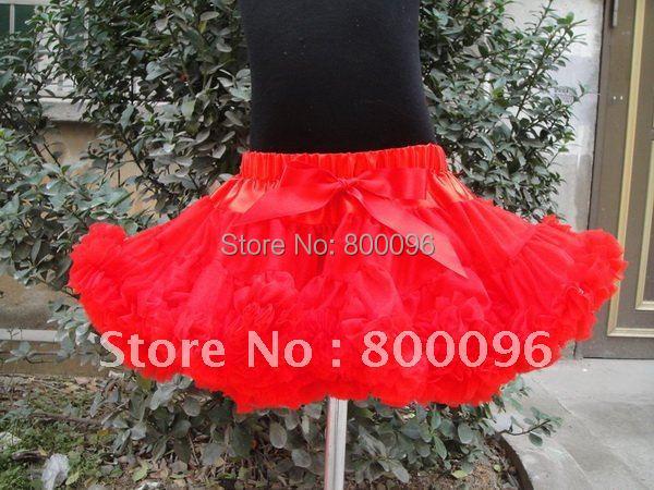 Hot Sale Tutus for Little Girls Red Bow of Girl Skirt for Children Clothing  Pettiskirt PETS-068