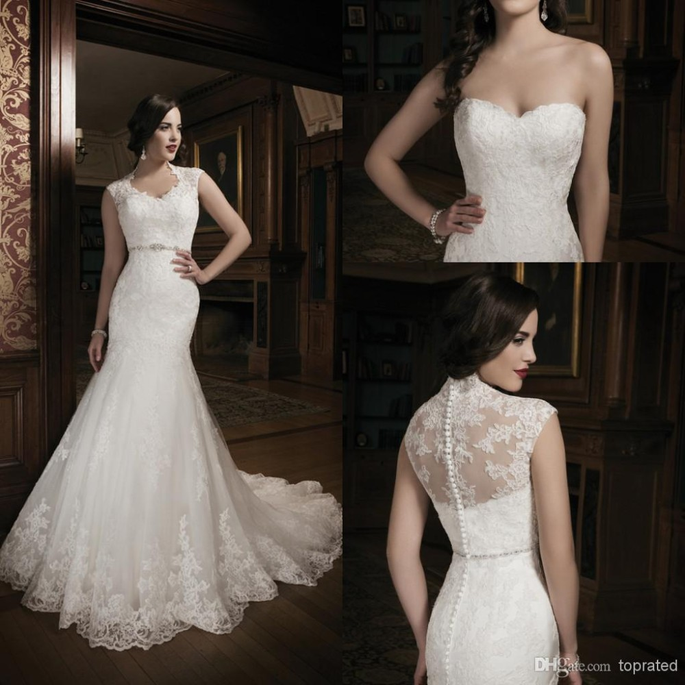2015 New Collection Mermaid Lace Ivory Wedding Dress Bridal Gown ...