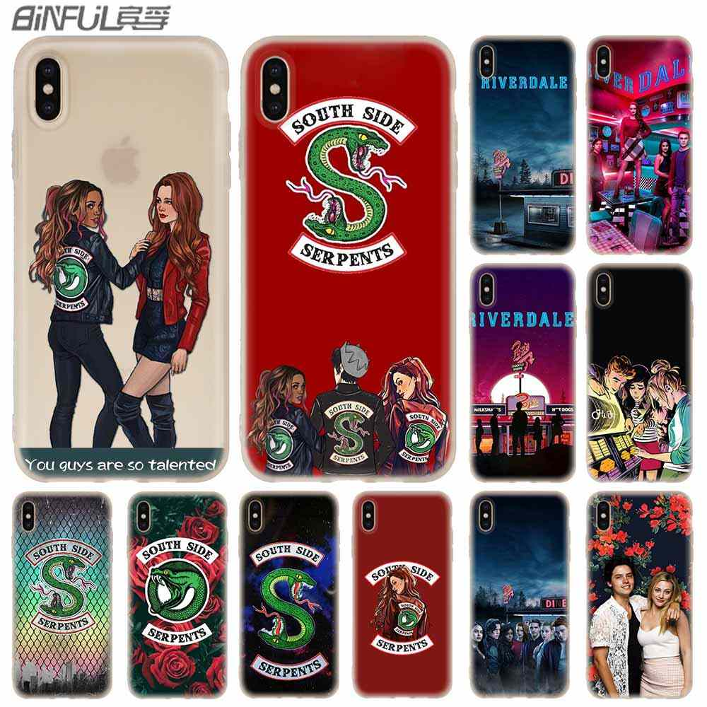 Cases Silicone soft Cover for iPhone X XS Max XR 6 6S 7 8 Plus 5 4S SE xs xr American TV Riverdale