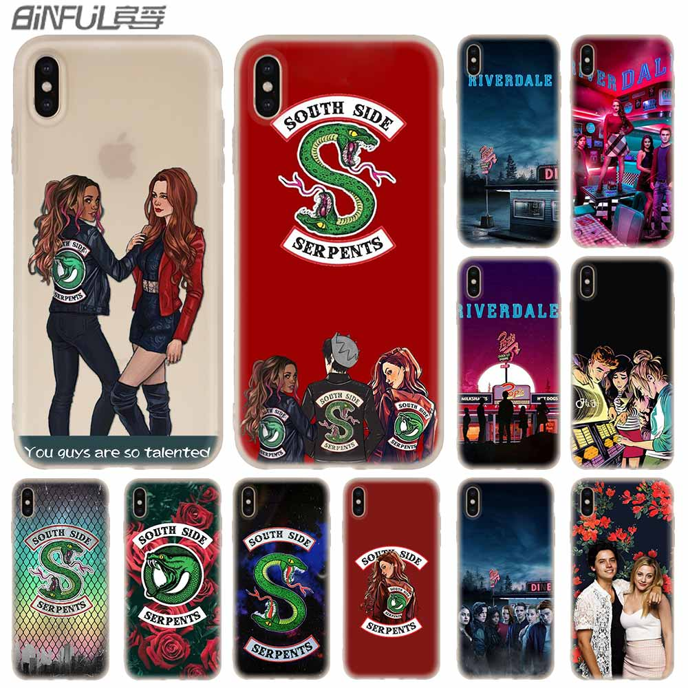 <font><b>Cases</b></font> Silicone soft Cover for <font><b>iPhone</b></font> 11 Pro X XS Max XR <font><b>6</b></font> 6S 7 8 Plus 5 4S SE American TV <font><b>Riverdale</b></font> image