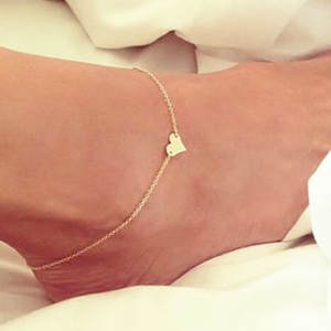 Anklets Foot Jewelry Crochet Barefoot Sandals Female Women Leg Heart Girl Fashion New
