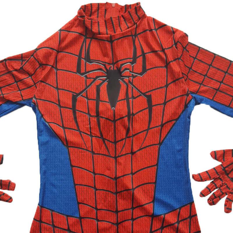 Người lớn Người Nhện Zentai Phù Hợp Với Siêu Anh Hùng Marvel Spandex Liền Quần Bodysuit Phim Đỏ Người Nhện Trang Phục Hóa Trang Halloween disfraz